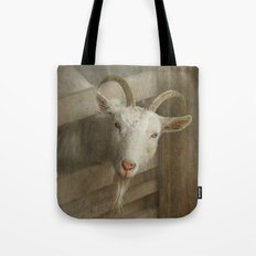 The curious goat Tote Bag
