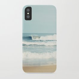 Ocean Photography, Calming Sea Photo, Blue Waves Seascape Photograph, Beach Print iPhone Case