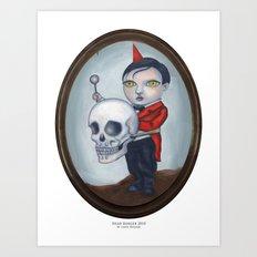 Head Banger - Carnival Sideshow Freak Art Print