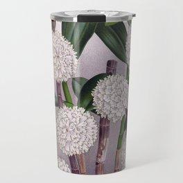 Vintage White Orchid Dendrobrium Purpurem Candidulum Lindenia Collection Travel Mug