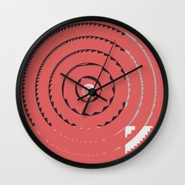Red abstract geometrical Wall Clock
