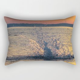 Drops of water on the sea Rectangular Pillow