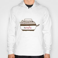 nutella Hoodies featuring Nutella Cat by Wis Marvin