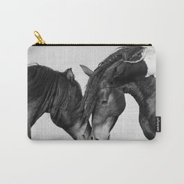 Horses - Black & White 4 Carry-All Pouch