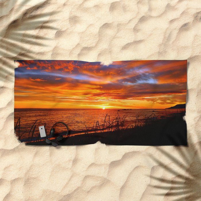 Spectacular Sunrise on the Saint-Lawrence Beach Towel