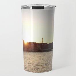 Sunset at Pont des Arts (Portrait) Travel Mug