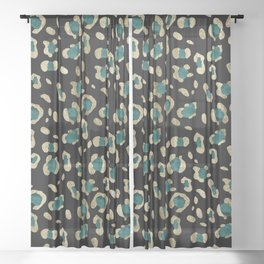 Leopard Animal Print Glam #5 #shiny #pattern #decor #art #society6 Sheer Curtain