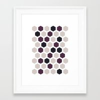 honeycomb Framed Art Prints featuring Honeycomb by LONEWLF