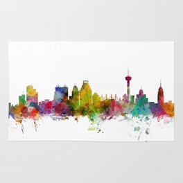 San Antonio Texas Skyline Rug
