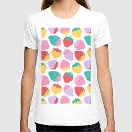 Minimalist Scandinavian Strawberries in White T-shirt