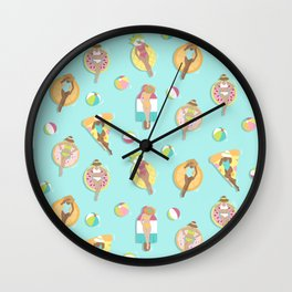 Summer Splash Wall Clock