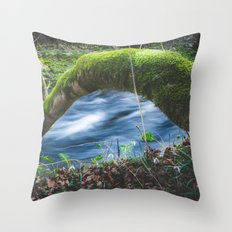 Enchanted magical forest Throw Pillow