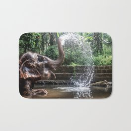 Elephant Bathing Bath Mat