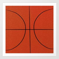 basketball Art Prints featuring Basketball by An Luong