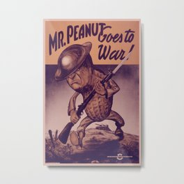 Vintage poster - Mr. Peanut Goes to War Metal Print