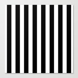 Classic Black and White Football / Soccer Referee Stripes Canvas Print
