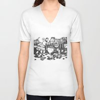 coffe V-neck T-shirts featuring Smile coffe by Kisava NiCh