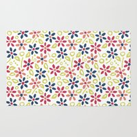 matisse Area & Throw Rugs featuring Matisse Floral by Rosie Simons