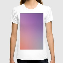 GUILTY  CONSCIENCE - Minimal Plain Soft Mood Color Blend Prints T-shirt