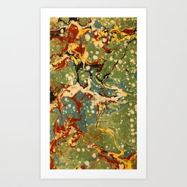 Marbled Paper – Muted Art Print