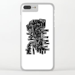 Sammy Abstract Clear iPhone Case