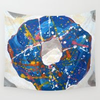 doughnut Wall Tapestries featuring Decorated Doughnut by Max Rowe Art