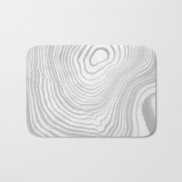 Sanyu - spilled ink abstract marble minimal topography black and white grey art Bath Mat