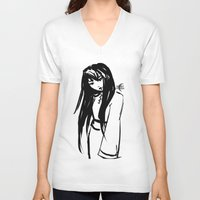 asian V-neck T-shirts featuring Asian Smile by Saska Ithiur