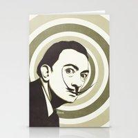 salvador dali Stationery Cards featuring Salvador Dali by Kristjan Lyngmo