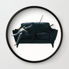 Ghost on the Couch Wall Clock