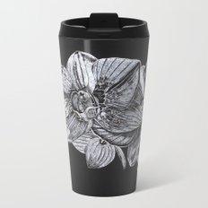 Silver Orchid Metal Travel Mug
