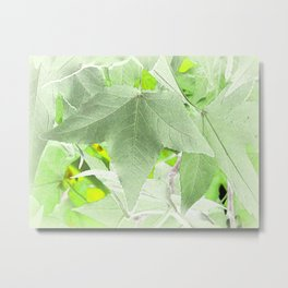 Delicate Sweetgum - Inverted Art Metal Print