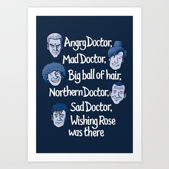 Angry Doctor Art Print