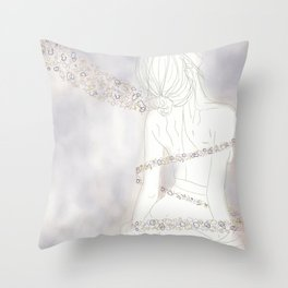 Bubble Flora 2 Throw Pillow