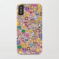 emoji iPhone & iPod Cases featuring emoji / emoticons by Marta Olga Klara