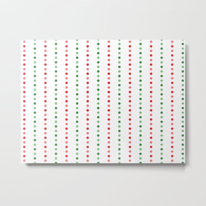 Holiday Hexies Multi Stripe Metal Print