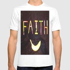 FAITH-B-SMILE Mens Fitted Tee MEDIUM White