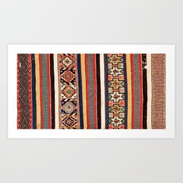 Salé  Antique Morocco North African Flatweave Rug Art Print