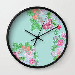 Petite Hand Drawn Collection Bouquet Wall Clock
