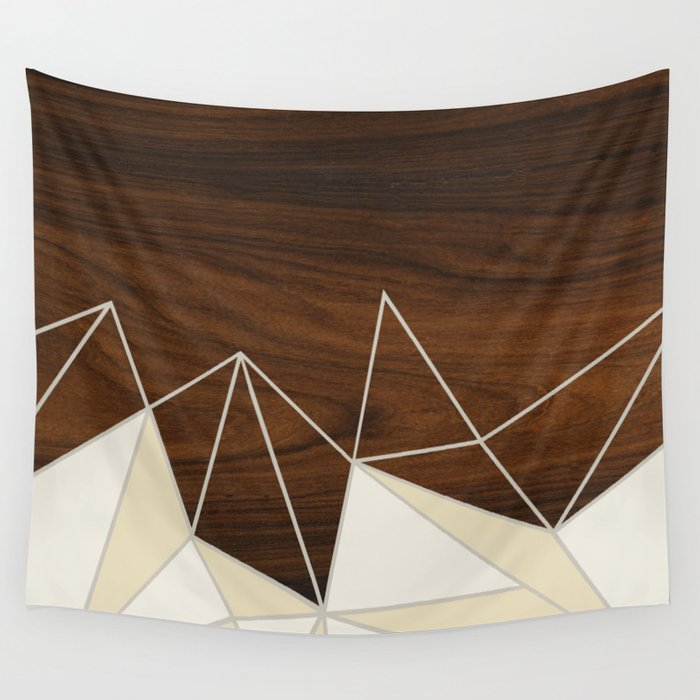 Facet in Cream Wall Tapestry