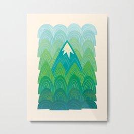 Towering Mountain Metal Print