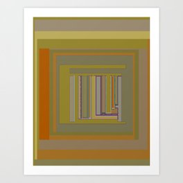 Anomaly in Brown Stripes graphic design Art Print