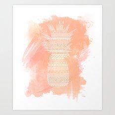 Watercolor Paradise - Coral  Art Print