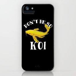 Japanese Koi Fish T-Shirt nishikigoi carp iPhone Case