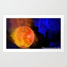 Ignited apple Art Print