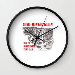 Mad River Glen Vermont, Ski Zentangle Illustration Wall Clock