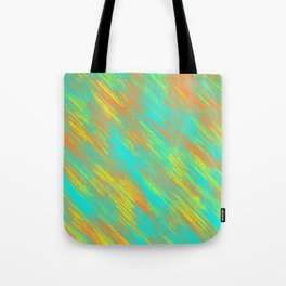 green blue orange and yellow painting texture abstract background Tote Bag