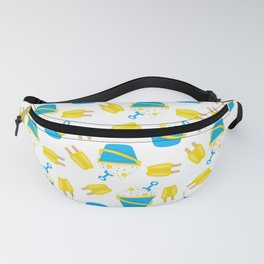 Summer Neck Gaiter Sand Pail and Popsicle Neck Gator Fanny Pack