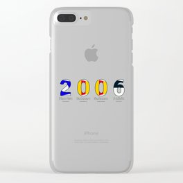 2006 - NAVY - My Year of Birth Clear iPhone Case
