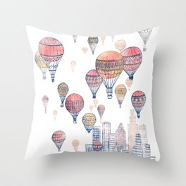 Voyages Over Santa Monica ~ Refresh Throw Pillow